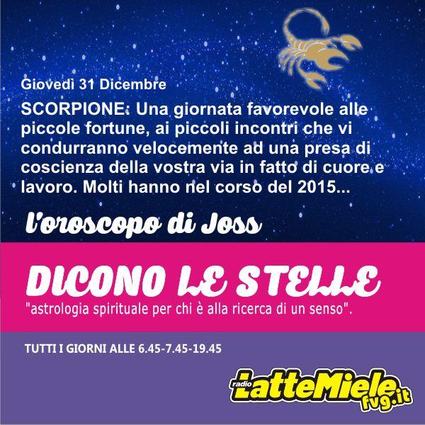Scorpione - Oroscopo di oggi Giovedì 31 Dicembre