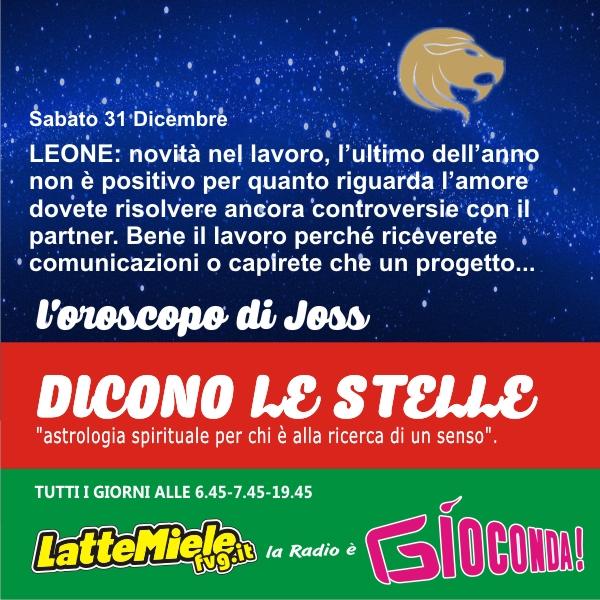 Leone - Oroscopo di sabato 31 dicembre